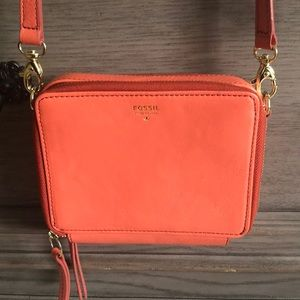 Fossil Orange Wallet Crossbody